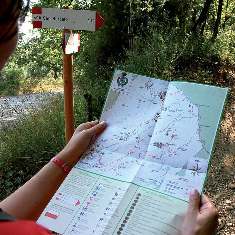 percorsi e sentieri sul crinale del Montalbano